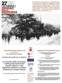 Giorno della Memoria 27-Gennaio-2014