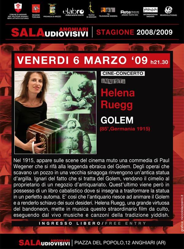 locandina-cine-concerto-golem-Helena-Ruegg-sala-audiovisivi-anghiari-stagione-2009