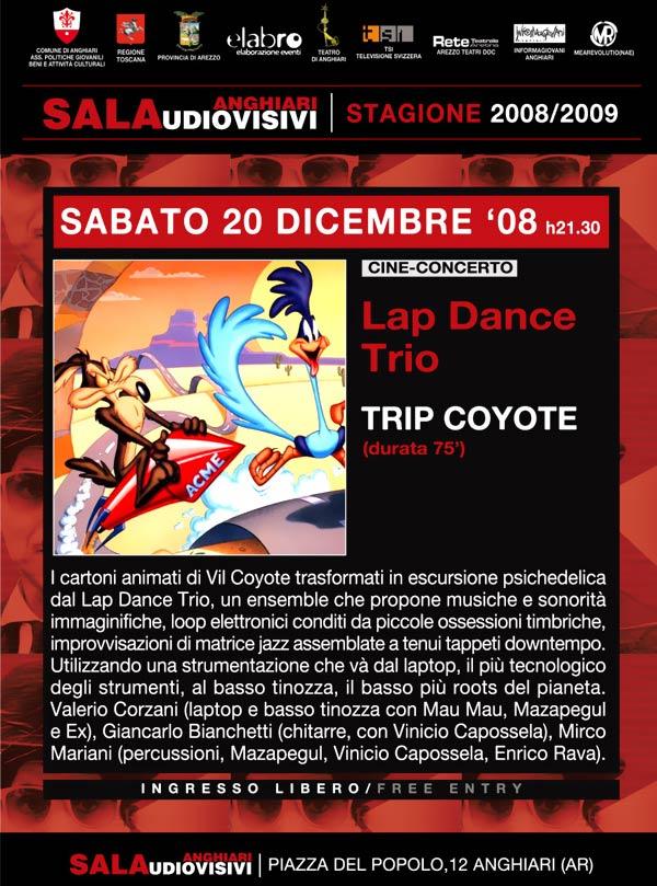 locandina-cine-concerto-trip-coyote-lap-dance-trio-sala-audiovisivi-stagione-2008-09